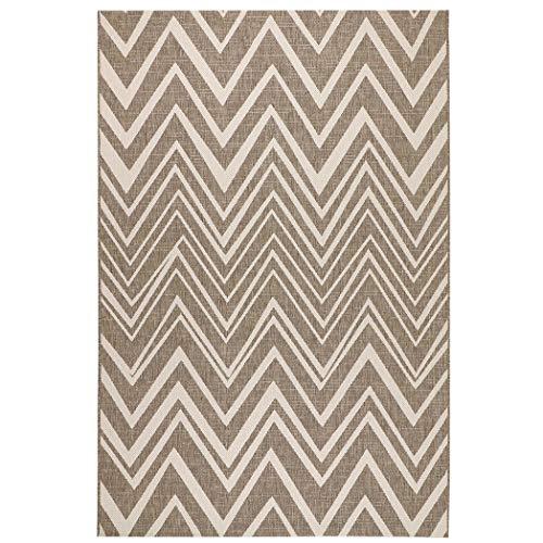 Sisal-Look Flachgewebe Teppich Lux Chevron - Caramel Beige oder Schwarz Grau in Sisal-Optik | pflegeleicht & strapazierfähig | Wohnzimmer Schlafzimmer, Farbe:Caramel/Beige, Größe:160 x 230 cm