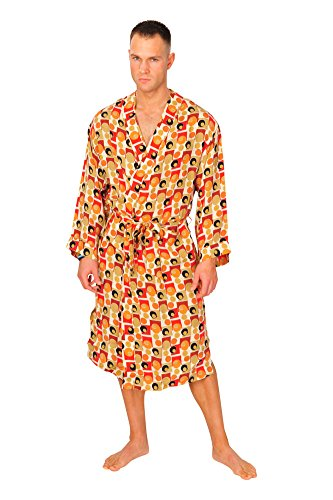brioni-robe-men-orange-silk-polka-dot
