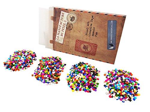 La Manufacture du Pixel - Pixel Handwerkskunst, kreatives Hobby, Mosaik, Spaß! - Erstellen Sie Ihre eigene Kunst - Zink Sammlung - Zwei rahmen und 3 600 Pixel Set (Lichtdurchlässig)