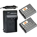 DSTE 2x NP-130 Battery + DC104 Travel and Car Charger Adapter for Casio Exilim EX-ZR700 EX-ZR800 EX-ZR850 EX-ZR1000 EX-ZR1200 EX-ZS1500 EX-10 EX-100 EX-H30 EX-ZR100 EX-ZR200 EX-ZR300 EX-ZR400 EX-ZR500 EX-ZR510