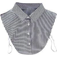 bobo4818 Bluse Fake Gestreift Collar
