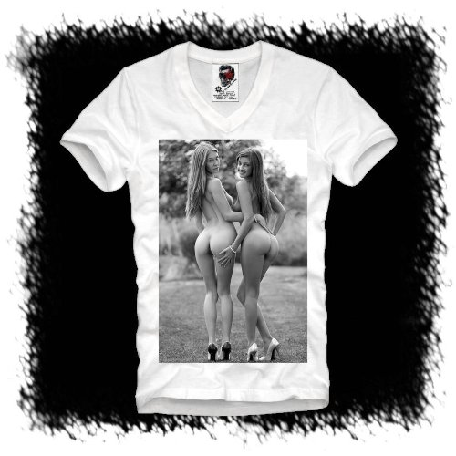 E1SYNDICATE V-NECK T-SHIRT SEXY PIN UP GOGO STAR DOPE EMO WOW S-XL