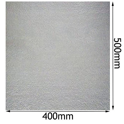 SPARES2GO Universal Wave Guide MICA Roof Liner Cover for Samsung Microwave Oven (400mm x 500mm, Pack of 2)