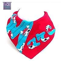 Babero bandana personalizado con el nombre que quieras. Para bebés, niños o adultos con necesidades especiales. P_69. ***Envío gratuito a España***