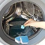 presentimer 12 STÜCKE Waschmaschine Reiniger Dekontamination Schmutzentfernung Tablet Farblos Reichen Schaum Wäscheblock Größe 3,15 1,97 3,54 in