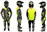 JLP RACING - Tuta da bambino, per motocross, quad, MTB, BMX, MTB, colore: giallo fluo, taglia 22 US/M