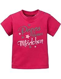 Mikalino Baby / Kinder T-Shirt Papas kleines Mädchen kurzarm