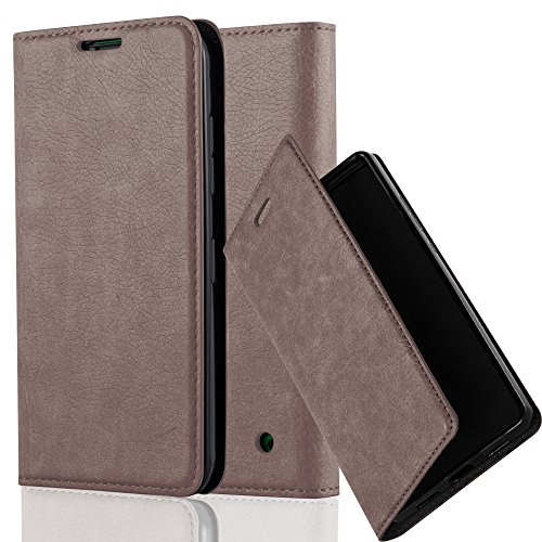 Cadorabo custodia libro per nokia lumia 630 in bruno café – con vani di carte, funzione stand e chiusura magnetica – portafoglio cover case wallet book etui protezione