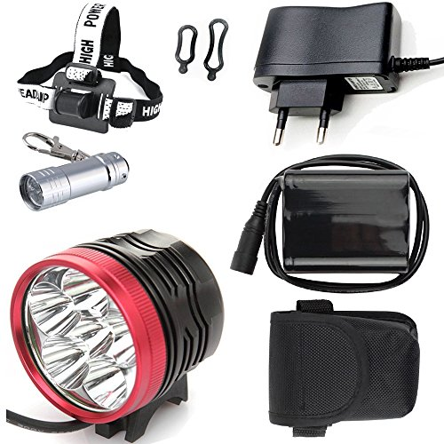 LED Linterna LáMPARA TORCH frontal Cabeza 7x CREE