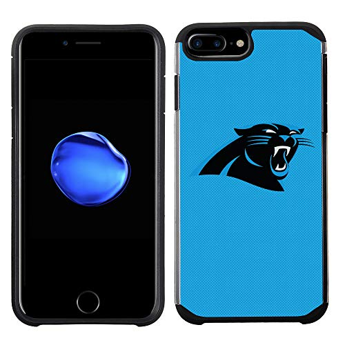 Handy Fall für Apple iPhone 8 Plus/iPhone 7 Plus/iPhone 6S Plus/iPhone 6 Plus - NFL Lizenzprodukt Carolina Panthers Strukturierte Farbe ()