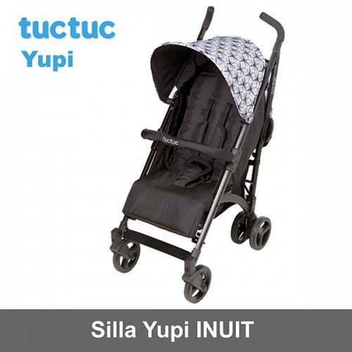 Tuc Tuc Yupi Weekend Inuit - Silla de paseo, color negro / gris