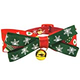 Weihnachten Pet Schleife Halsband Katze Hund Krawatte Verstellbare Halsbänder Fliege Schneeflocke Dekoration Lovely Halskette Schleife Urlaub Saison Party