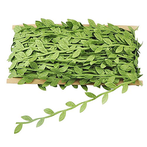 Meiwo 132 ft viti artificiali, finto piante sospese seta edera ghirlande in rattan per nastro corona accessorio matrimonio artigianato murale casa decorazioni per feste