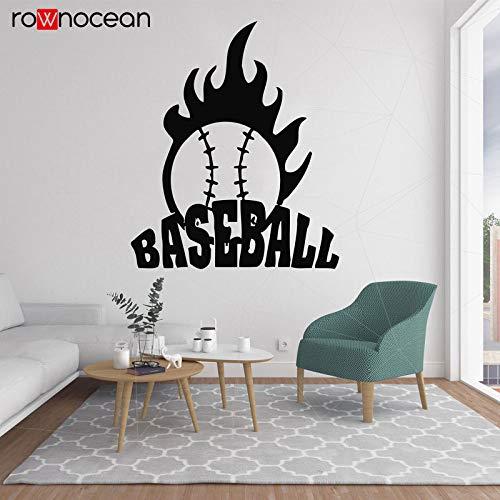 woyaofal Fireball Baseball Wall Decal Mordern Vinyl Stickers for Living Room Decoration Removable Wall Art Decor Home Nursery Decor 42x50cm