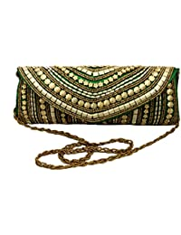 Vrindavan Bazaar Design Of Bomb Mirror & Gota Patti Work Bag