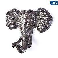 1 PCS Owl Butterfly Elephant Wall Hanger Hook Decor Hooks Coats Bags Wall Mount Clothes Decorative Holder Iron Key Racks
