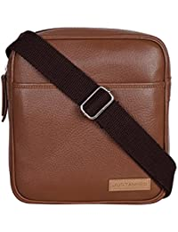 EASY-TO-USE TAN LEATHER CROSSBODY BAG