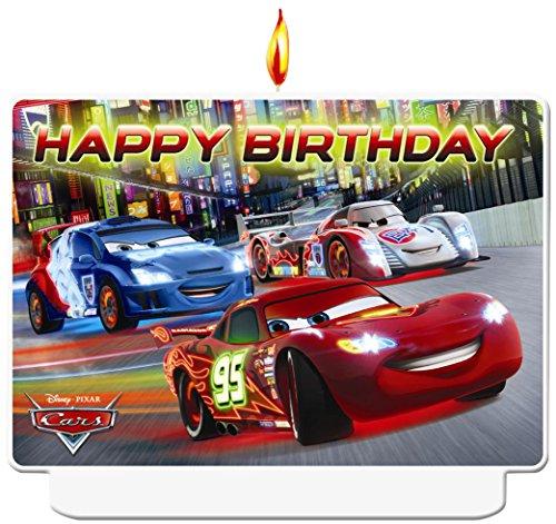 Disney NEON Cars Geburtstag Kerze