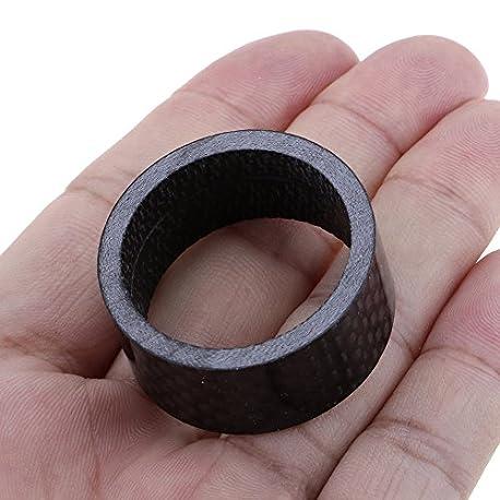 VANKER negro Full de fibra de carbono espaciador tallo 1 1 8 28 6 mm Stem Spacer 15 mm