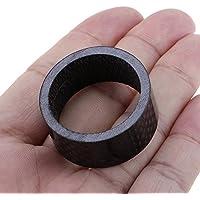 VANKER negro Full de fibra de carbono espaciador tallo 11/8(28.6mm) Stem Spacer 15mm