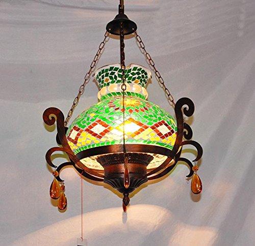 Suspensions Européenne style méditerranéen Pendentif Bohemian Maroc lumières porche lumières couloir lampe de lustre en cristal, à droite, 60w