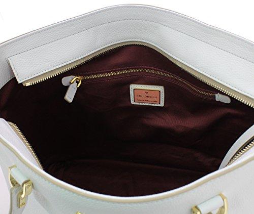 Coccinelle Keyla Borsa a spalla pelle 33 cm BLANCHE