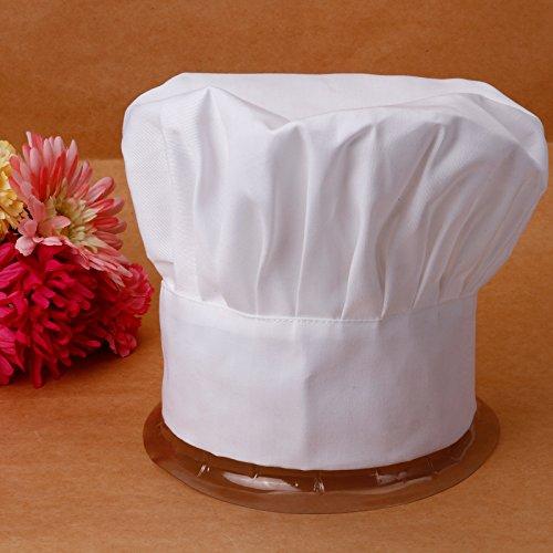 4933b0e1c110 Cappello da Cuoco Berretto Donna Uomo Chef Hat Regolabile Ristorante Bar  Barbecue Caffeteria Hotel Cucina Bianco