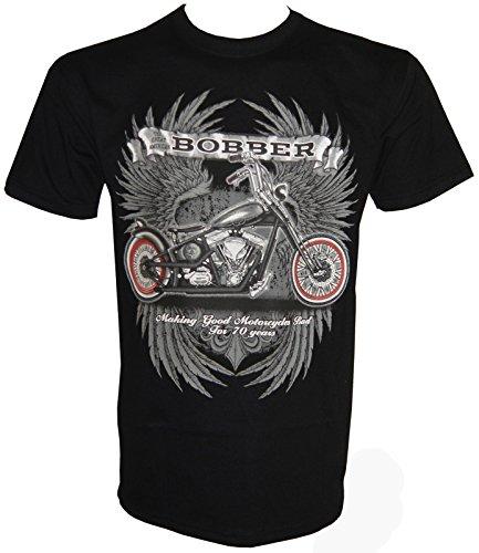 Chopper Bobber Motorcycles T-Shirt in Größe S - 5XL Schwarz
