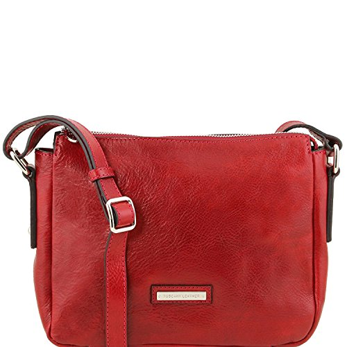 Tuscany Leather Michela - Sac bandoulière en cuir - TL141476 (Miel) Rouge