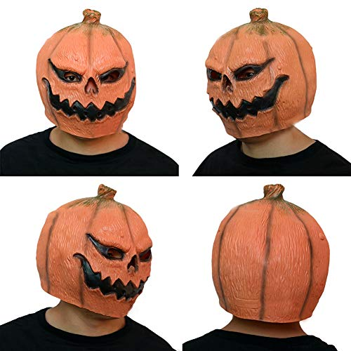 Goodtimes28Funny Latex Kürbis Kopf Maske Kostüm Halloween Cosplay Party Prop Spielzeug Geschenk Multi
