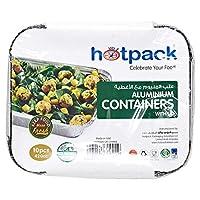 عبوات تخزين الطعام للاستعمال مرة واحدة من هوت باك - 10 قطع