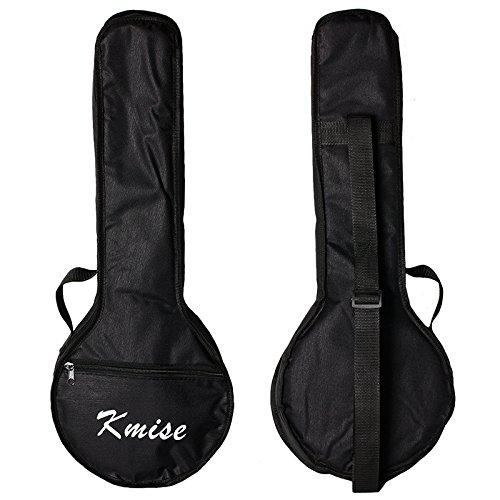 Kmise Banjo Ukulele Uke Banjo lele Tasche Konzert 23 Zoll Größe Schwarz