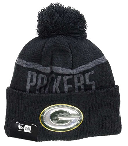 New Era NFL Blk Coll Knit Bommelmütze Green Bay Packers Schwarz fb4abb14e6d