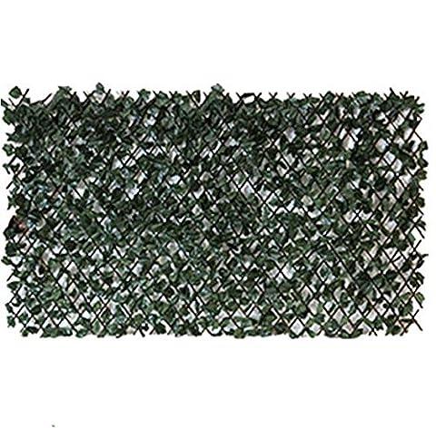 dépistage de lierre artificiel sur Treillage en saule 2m Hauteur X 1m Wirth Clôture haie Feuille d