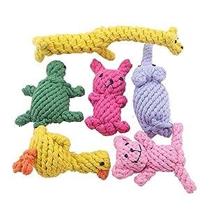 wxzdq 6Pcs Pet Corde De Coton Costume, Jouet en Corde De Coton, Anti - Morsure De Chien Fournitures De Nettoyage pour Les Jouets,