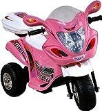 Kinder Motorrad Elektromotorrad für Kinder Elektrofahrzeuge Polizei Bike Akku!! (PINK)