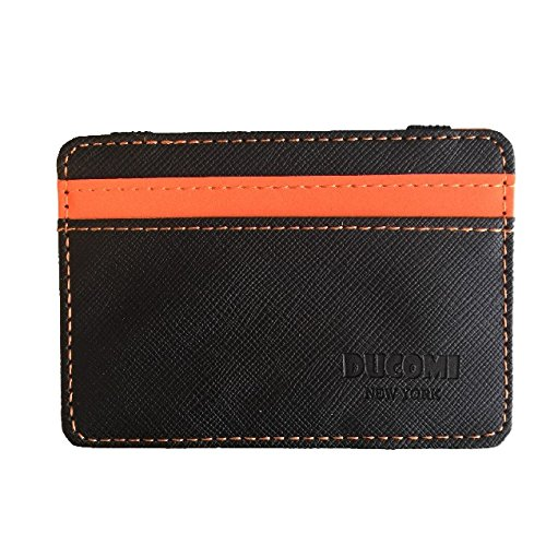 Ducomi® Portafoglio Magico in simili cuoio - Magic Wallet Credit Card Holder (Orange)