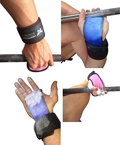 Premium pour Crossfit ou Gymnastique Palm Protection avec support pour poignet (Blanc, Grand)