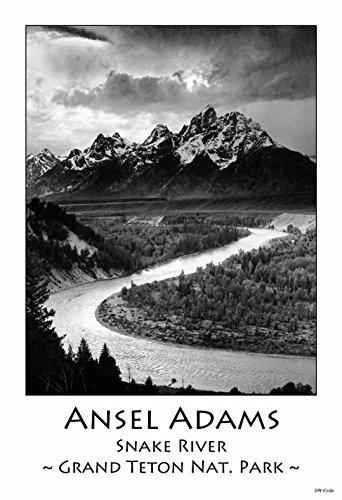 ArtDash® klein 33cm × 48,3cm Kunstdruck Poster von Studio: Ansel Adams Collection Snake River & The Tetons -