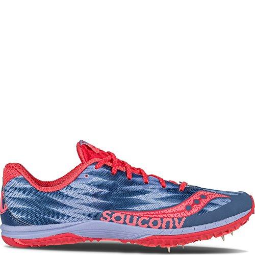 Saucony Women's Kilkenny XC5 Racing Shoe, Grey/Slime/Pink, 10 M US Lavender | Red