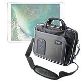 DURAGADGET Black & Blue Shoulder Bag For Apple iPad Air Wi-Fi / Wi-Fi + Cellular Space Grey Silver 16Gb 32Gb 64Gb 128GB, iPad Mini / Cellular, iPad (3rd / 4th Gen) / Cellular & iPad 2