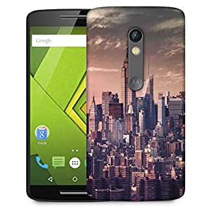 Snoogg Pin Point Building Designer Protective Phone Back Case Cover For Moto G 3rd Generation