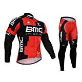 Strgao 2016 Herren Winter Radtrikots Pro Rennen Team BMC Thermal Radfahren Langarm Radhose MTB Radbekleidung Radfahren Anzug cycling jersey pants set suit