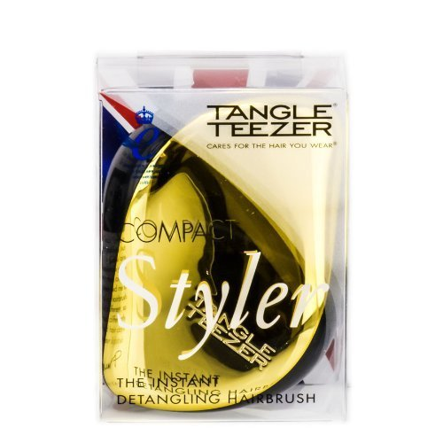 Tangle Teezer Compact Styler - Hair Brush - Black/Gold by Tangle Teezer BEAUTY (English Manual)