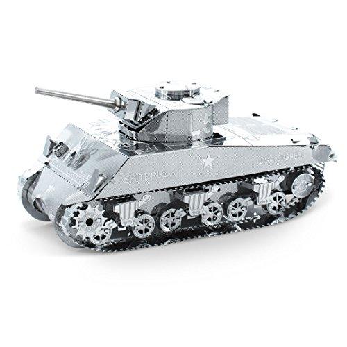 Fascinations Metal Earth MMS204 - 502460, Sherman Tank, Konstruktionsspielzeug, 2 Metallplatinen, ab 14 Jahren