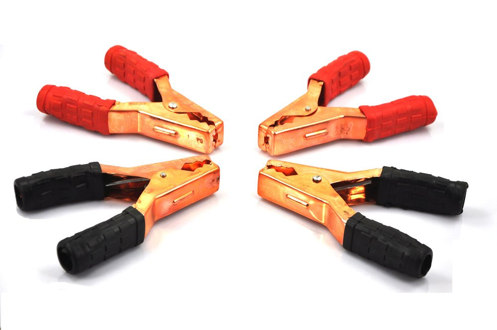 XINCOL TX-100 – Juego de abrazaderas para cable de batería (4 unidades, resistentes)
