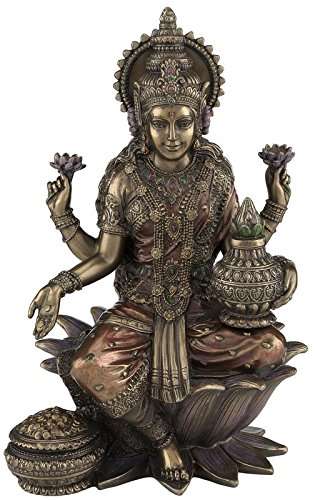 "CRAFTSTRIBE 7"" Sitzende Lakshmi Hindu Göttin Hinduismus Statue Skulptur Abbildung Laxmi"