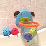 Badespielzeug Basketballkorb Set Kleinkind Badewanne Spielzeug Organizer für Jungen und Mädchen