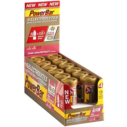 Elektrolyte Tabletten 5 Electrolytes – Brausetabletten mit 5 Mineralstoffen – 75mg Koffein – Erfrischender Drink mit Natrium, Chlorid, Kalium, Magnesium und Calcium – Pink Grapefruit 12 x 42 g