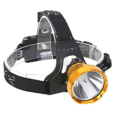 LED Head Torch USB Rechargeable, Super Bright Waterproof Headlamp Headlight for Outdoor Camping Fishing Hunting Hiking Running Cycling Mining Caving from Neolight W01